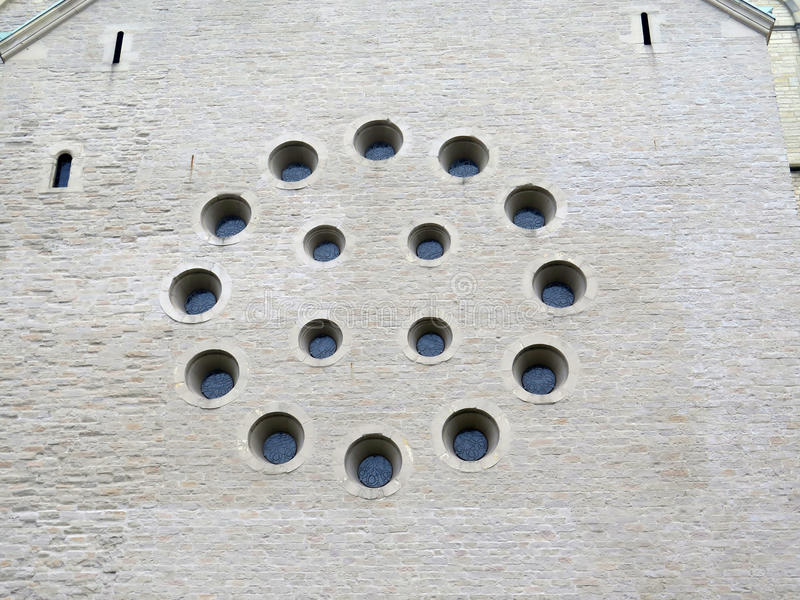 Close up do círculo redondo da janela fotografia de stock royalty free