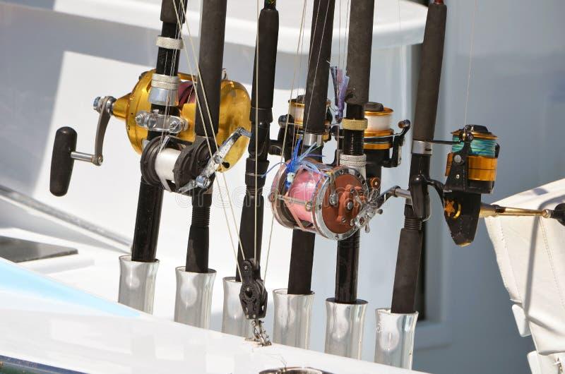 Close up do carretel da pesca da carcaça e do girador imagem de stock royalty free