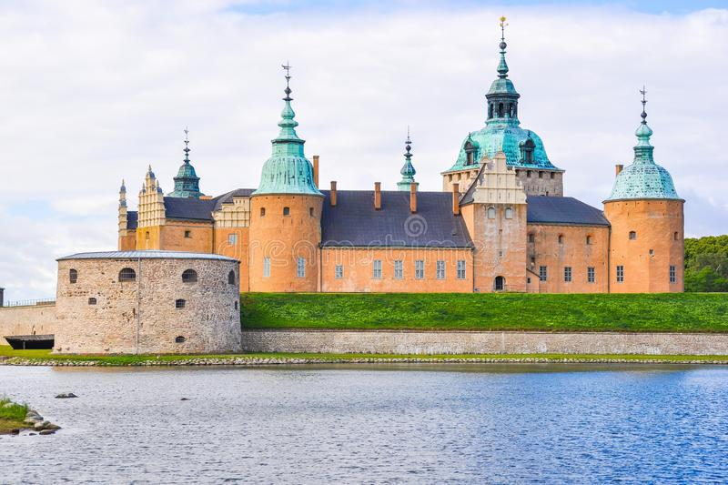 Close-up do castelo de Kalmar foto de stock royalty free