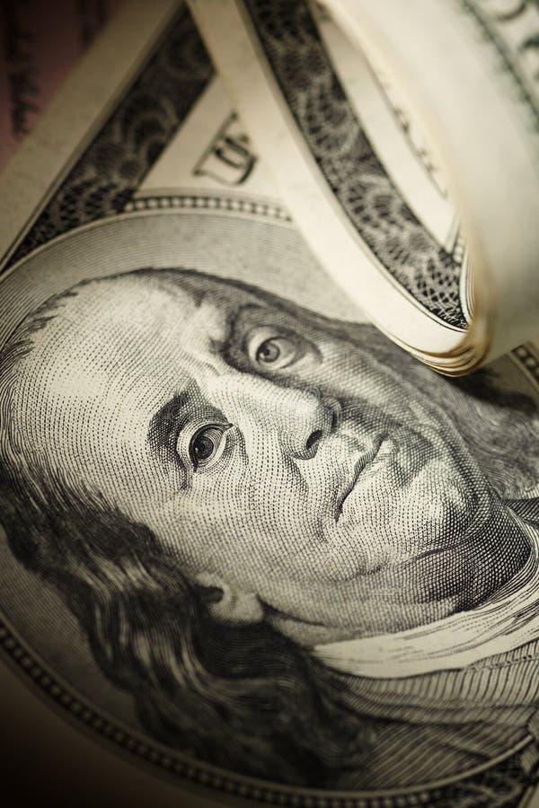 Close up do dólar imagens de stock royalty free