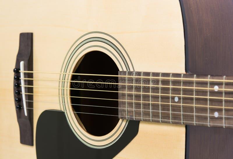 Close up do detalhe da guitarra clássica foto de stock
