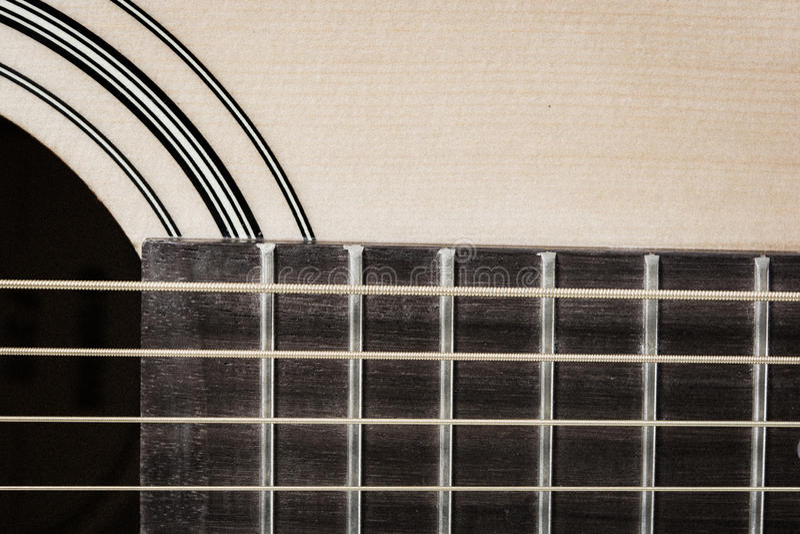 Close up do detalhe da guitarra clássica fotografia de stock royalty free