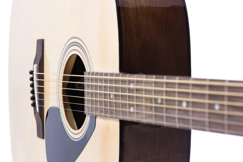Close up do detalhe da guitarra clássica imagem de stock royalty free