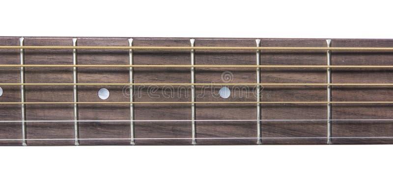 Close up do detalhe da guitarra do clássico do pescoço fotos de stock