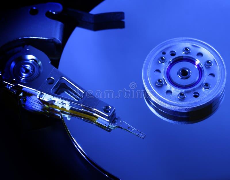 Close up do disco rígido imagem de stock