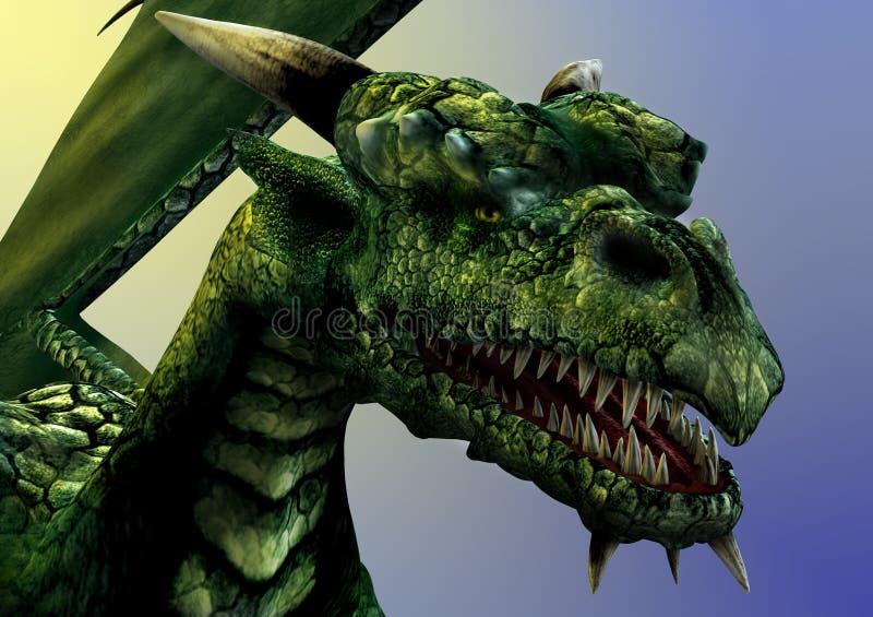 Close-up do dragão ilustração royalty free