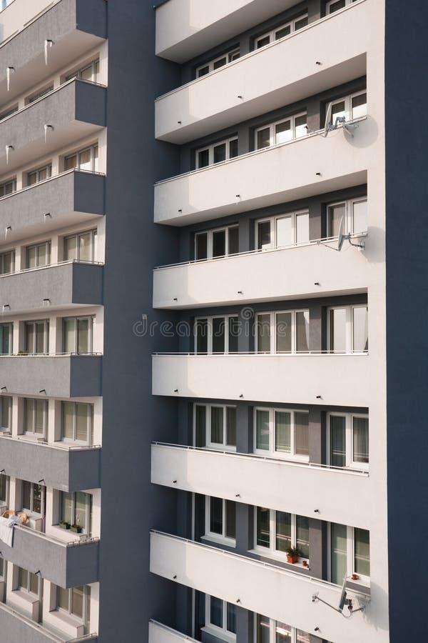 Close-up do edifício residencial fotos de stock