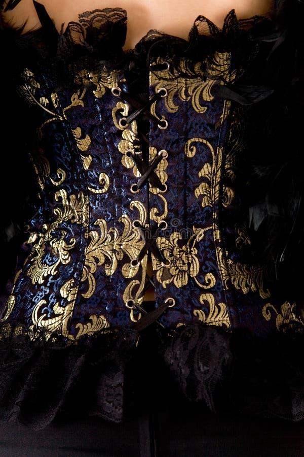Close-up do espartilho azul imagem de stock royalty free
