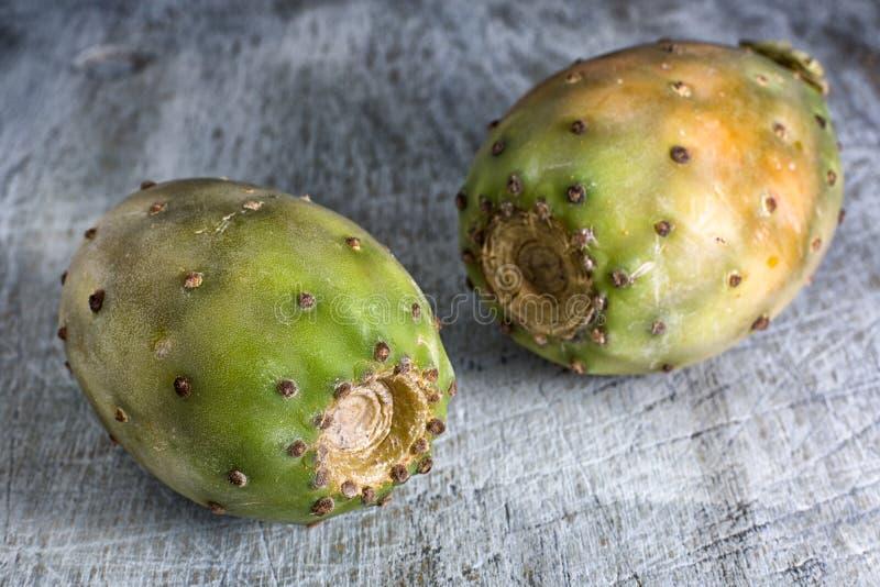 Close up do fruto do cacto fotografia de stock
