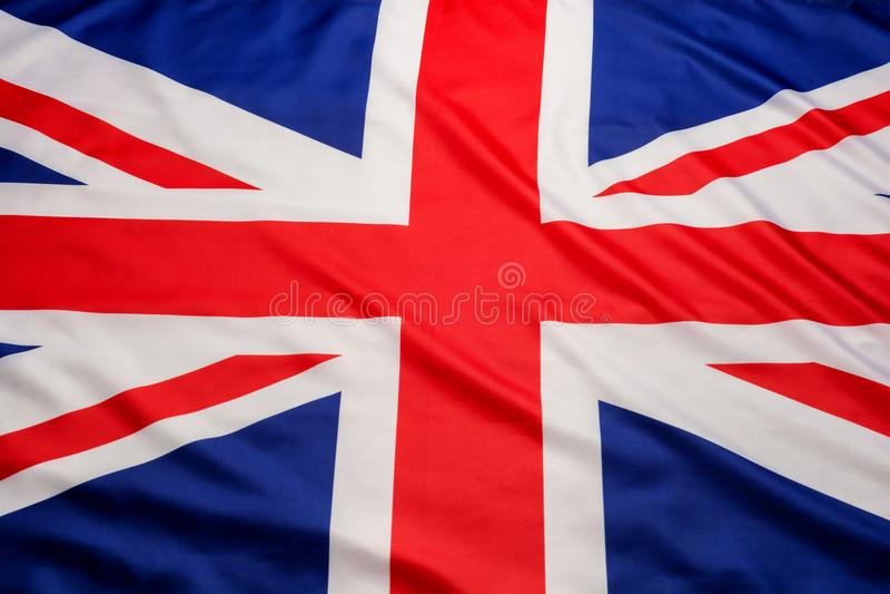 Close up do fundo britânico BRITÂNICO da bandeira de Union Jack da bandeira imagens de stock