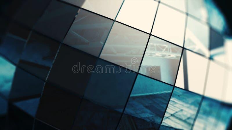 Close up do giro bonito da bola do disco sem emenda com alargamentos bola isolada Laço-capaz do espelho Animação da bola de vidro imagens de stock