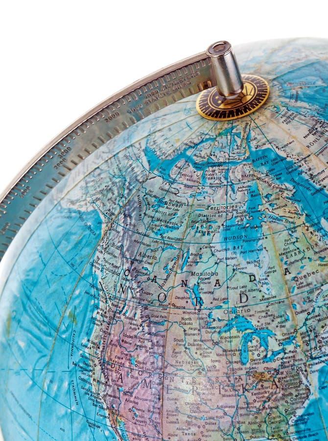 Close up do globo fotos de stock