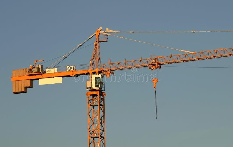 Close-up do guindaste de Construcion foto de stock