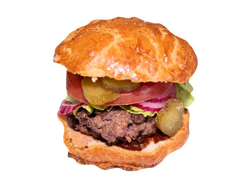 Close-up do hamburguer feito home imagem de stock