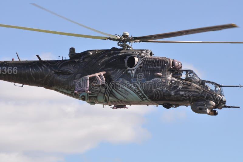 Close-up do helicóptero de Airshow fotografia de stock