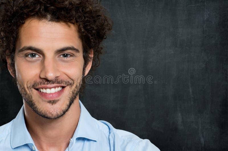 Close up do homem de negócio feliz fotos de stock