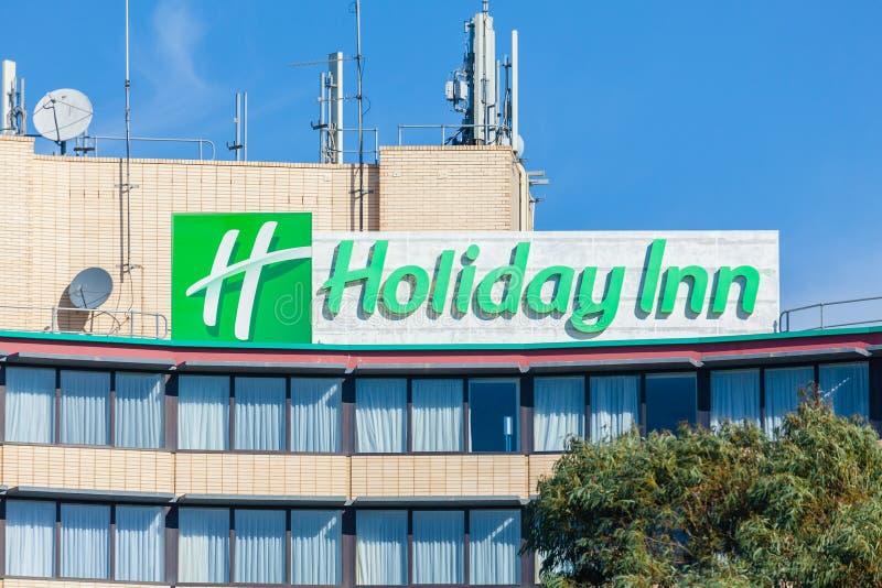 Close-up do hotel de Holiday Inn em Melbourne fotografia de stock