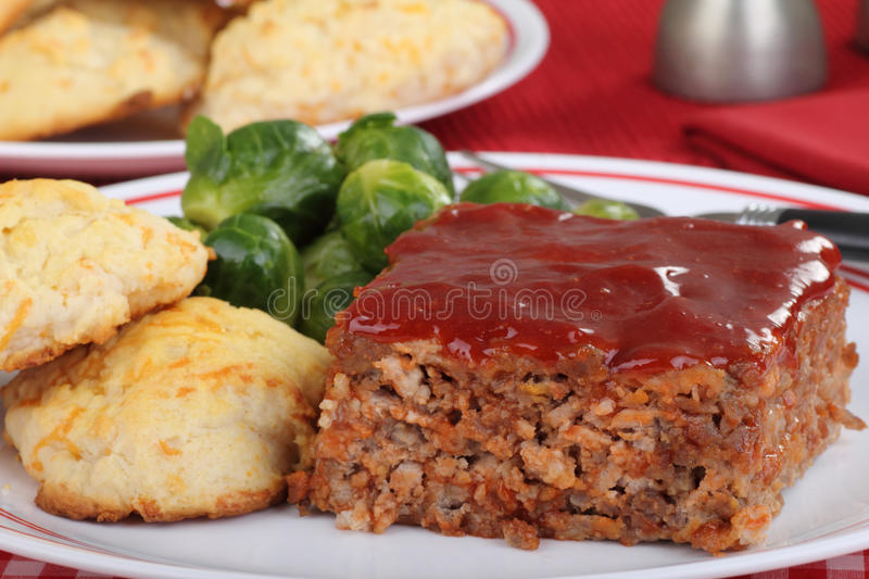 Close up do jantar do Meatloaf foto de stock royalty free