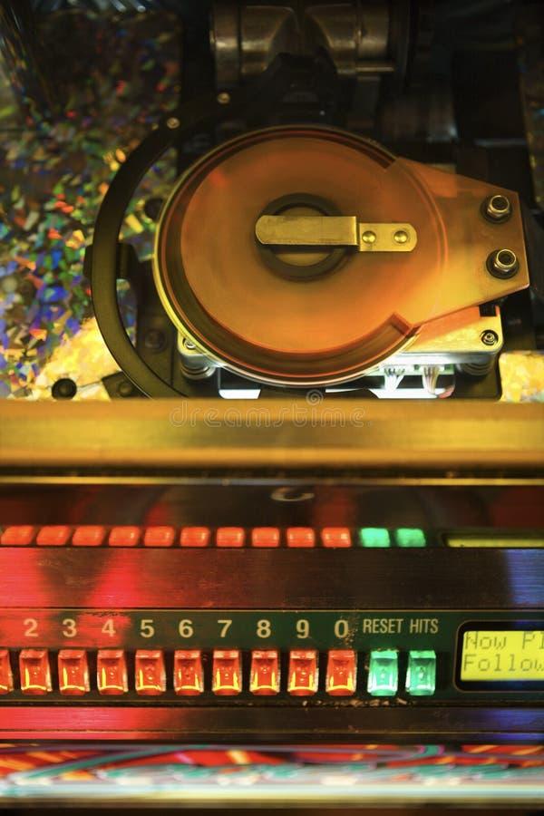 Close-up do jukebox. fotos de stock