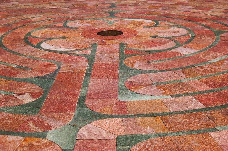 Close up do labirinto do St. Francis fotos de stock