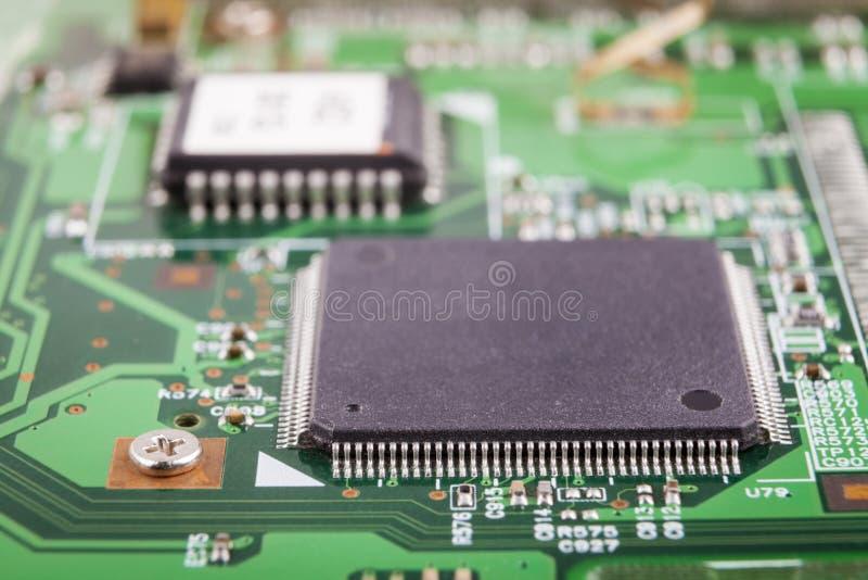 Close-up do microchip foto de stock royalty free