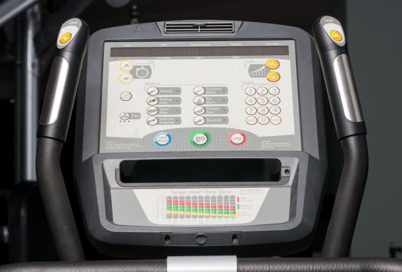 Close-up do monitor do bycicle com botões e níveis imagens de stock royalty free