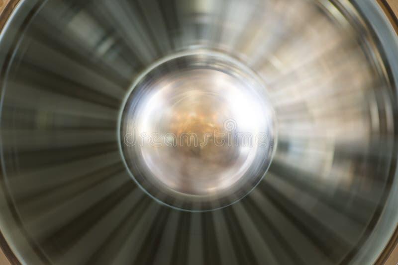 Close-up do motor de aviões Lâminas de gerencio do fã e de turbina do plano moderno fotos de stock royalty free