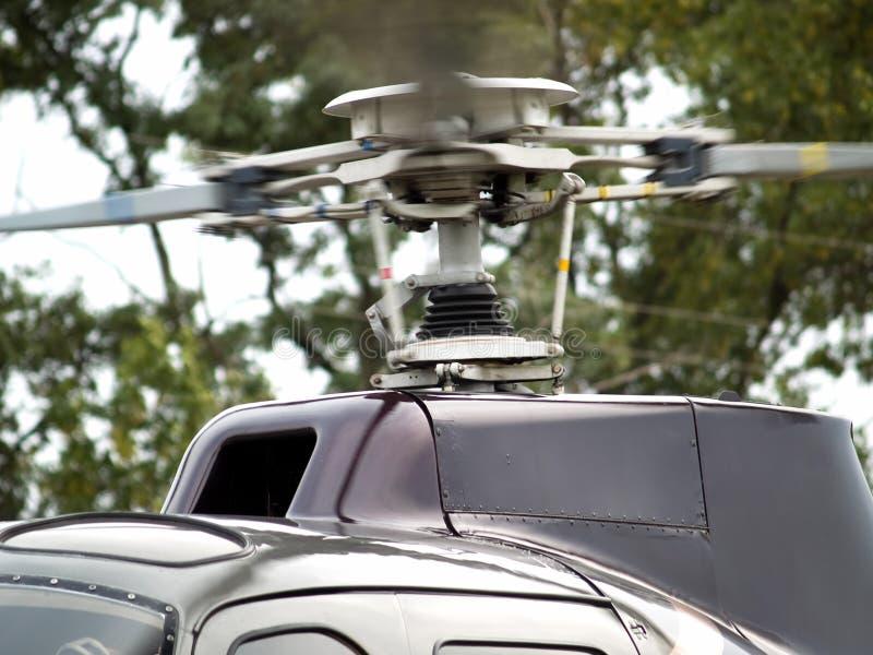 Close-up do motor do helicóptero fotos de stock royalty free