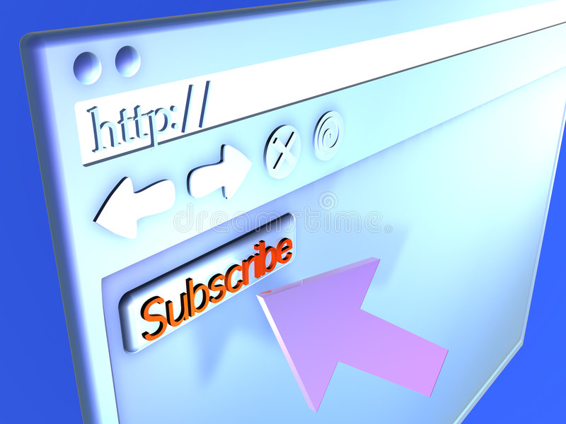 Download Close Up Do Navegador - Subscreva Ilustração Stock - Ilustração de carga, conexão: 542847