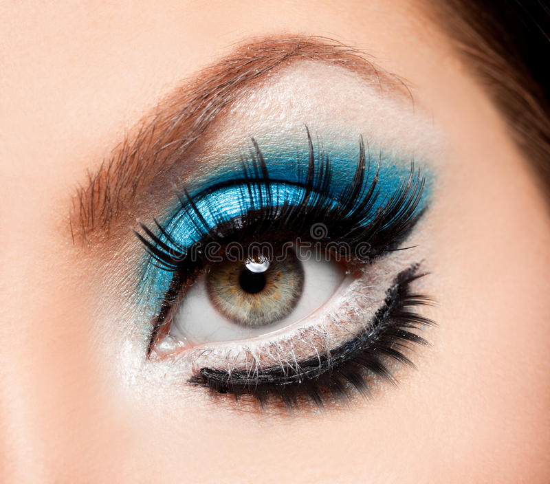 Close-up do olho bonito foto de stock