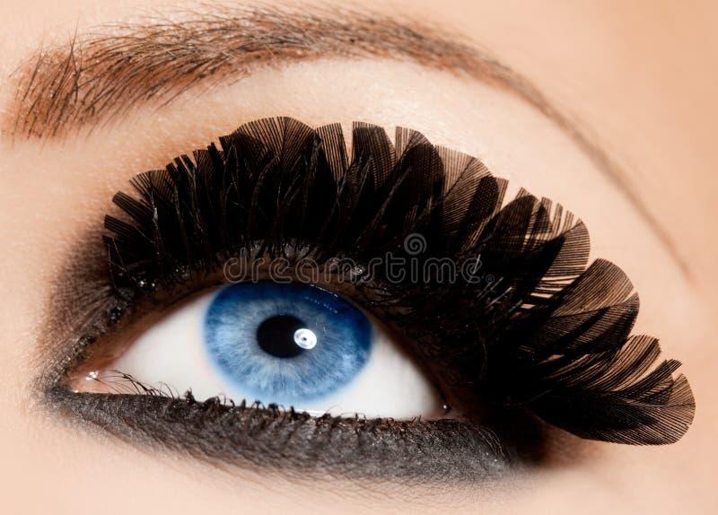 Close-up do olho bonito imagens de stock
