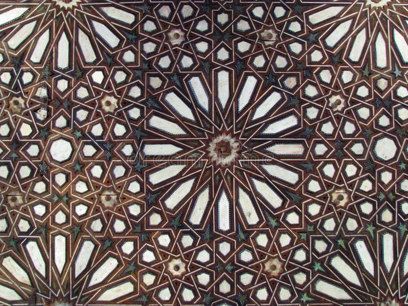 Close up do ornamento de madeira do arabesque do vintage fotografia de stock