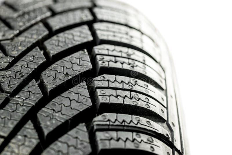 Close up do pneu do inverno fotos de stock