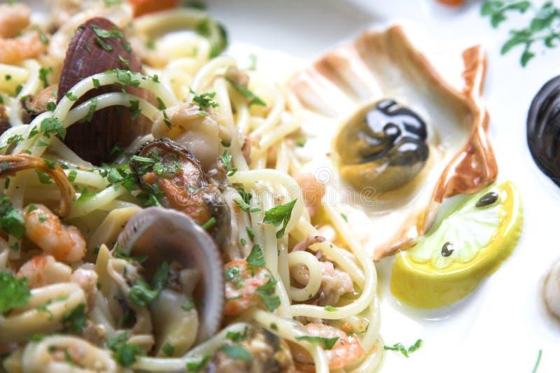 Close up do prato do marisco imagens de stock royalty free
