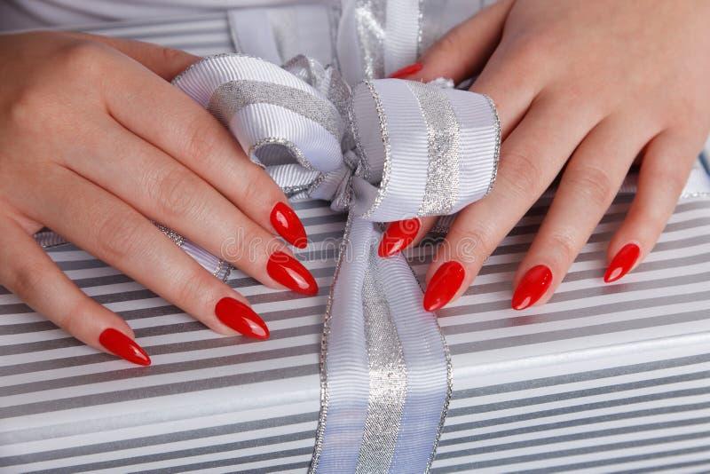 Close up do pregos vermelhos 'sexy' fotos de stock royalty free