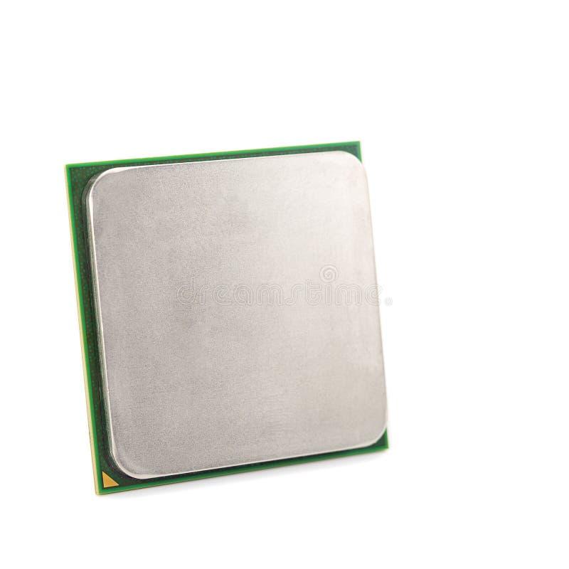 Close-up do processador central isolado fotografia de stock