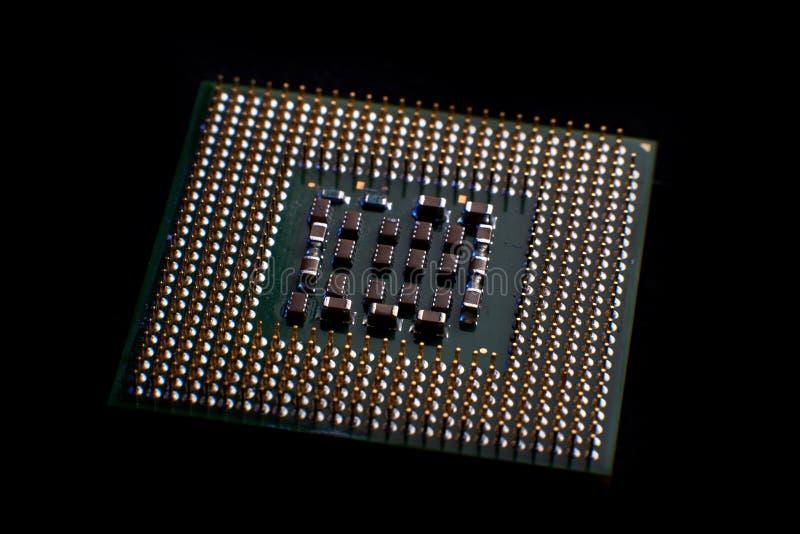 close up do processador central para o PC e o portátil foto de stock