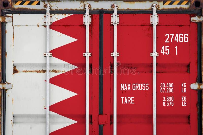 Close-up do recipiente com a bandeira nacional imagens de stock royalty free