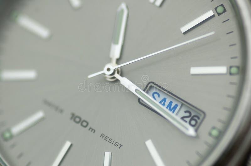 Close up do relógio imagem de stock