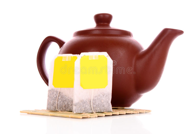 Close-up do saco de chá imagem de stock royalty free