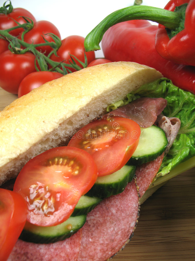 Close-up do sanduíche foto de stock royalty free