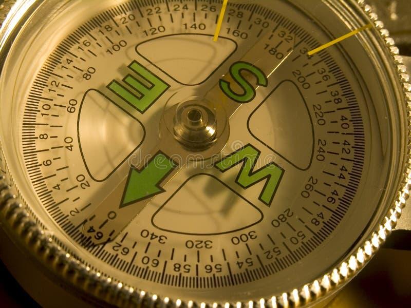 Close-up do seletor do compasso foto de stock