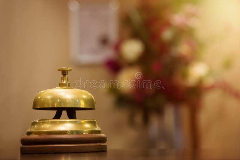 Close-up do serviço da chamada de Bell do vintage imagens de stock
