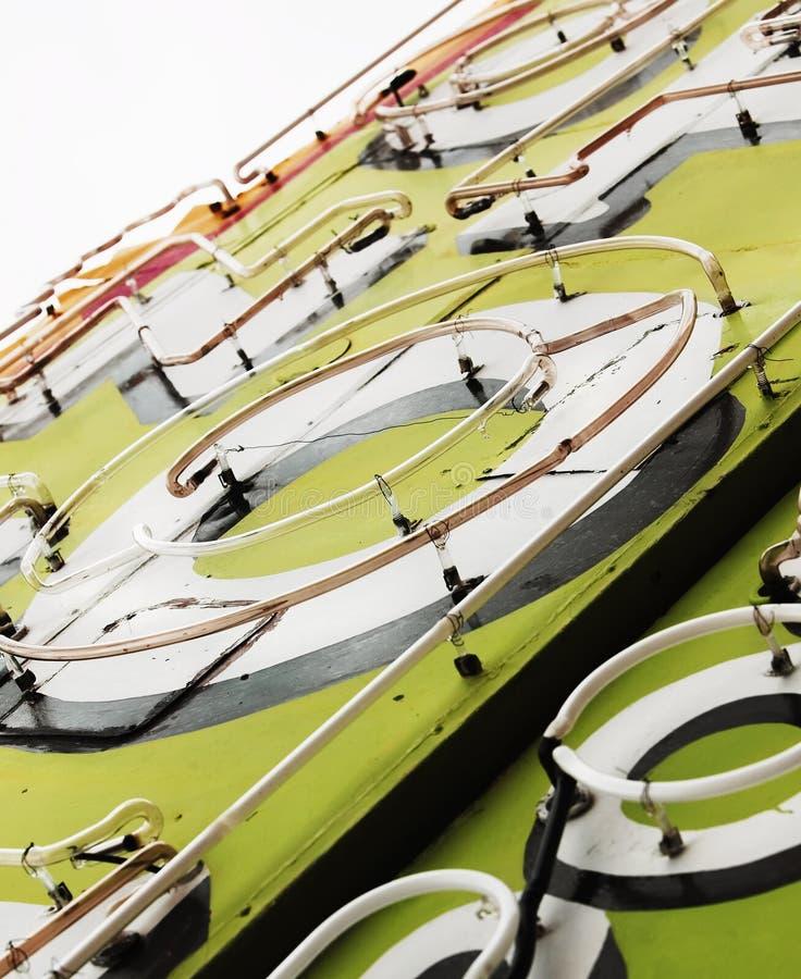 Close-Up do sinal de néon fotografia de stock royalty free