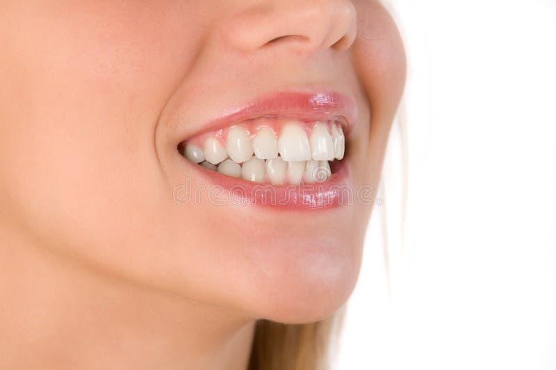 Close up do sorriso bonito fotos de stock