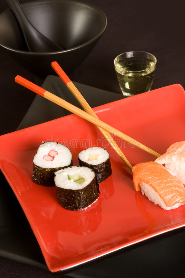 Close up do sushi fotografia de stock royalty free