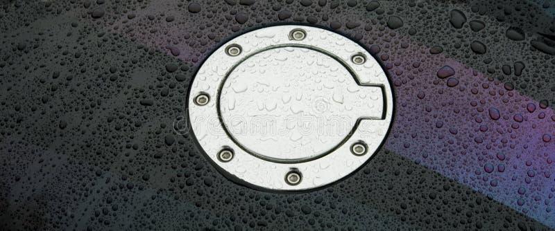 Close-up do tanque de gás do carro fotos de stock royalty free