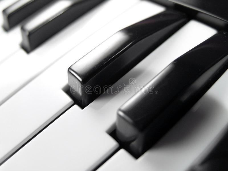 Close-up do teclado de piano imagem de stock