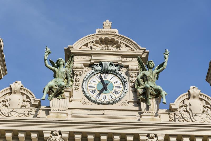 Close up do telhado de Monte Carlo Casino, Mônaco, França foto de stock