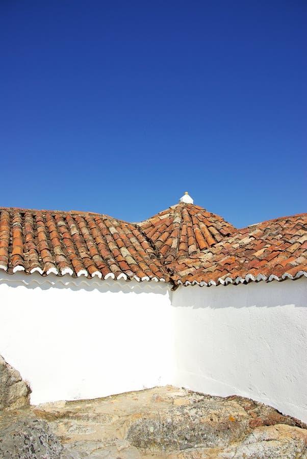 Close up do telhado português. imagem de stock